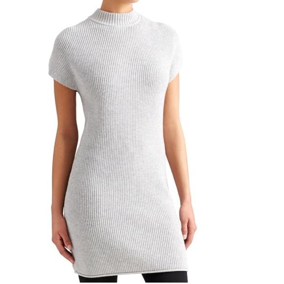 a14d6d22dd8f00 Athleta Dresses | Gray Pinewood Mock Neck Short Sleeve Sweater Dress ...